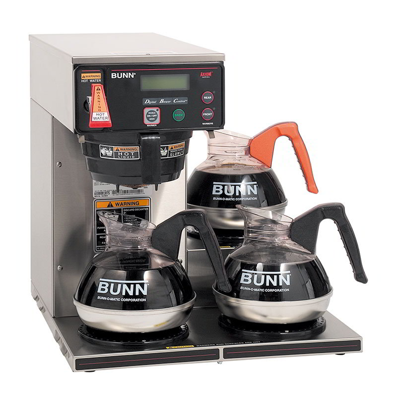 BUNN-O-Matic 38700.0003 3 Lower Warmer Coffee Brewer, Hot Water Faucet, LCD Display, 120-240 V