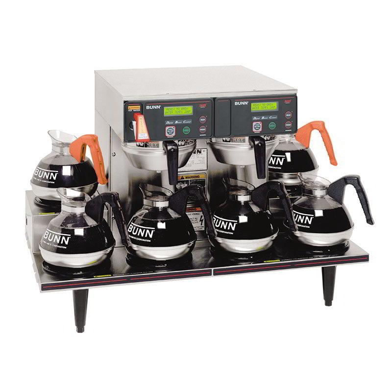 BUNN-O-Matic 38700.0015 AXIOM Twin Automatic Coffee Brewer, 6 Lower Warmers, 120/208-240 V