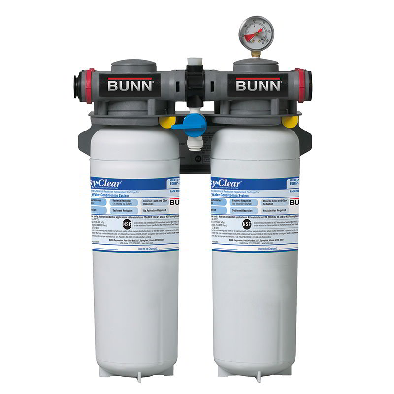 BUNN-O-Matic 39000.0012 High Performance Water System, 2 Cartridges, Built-In Pressure Gauge