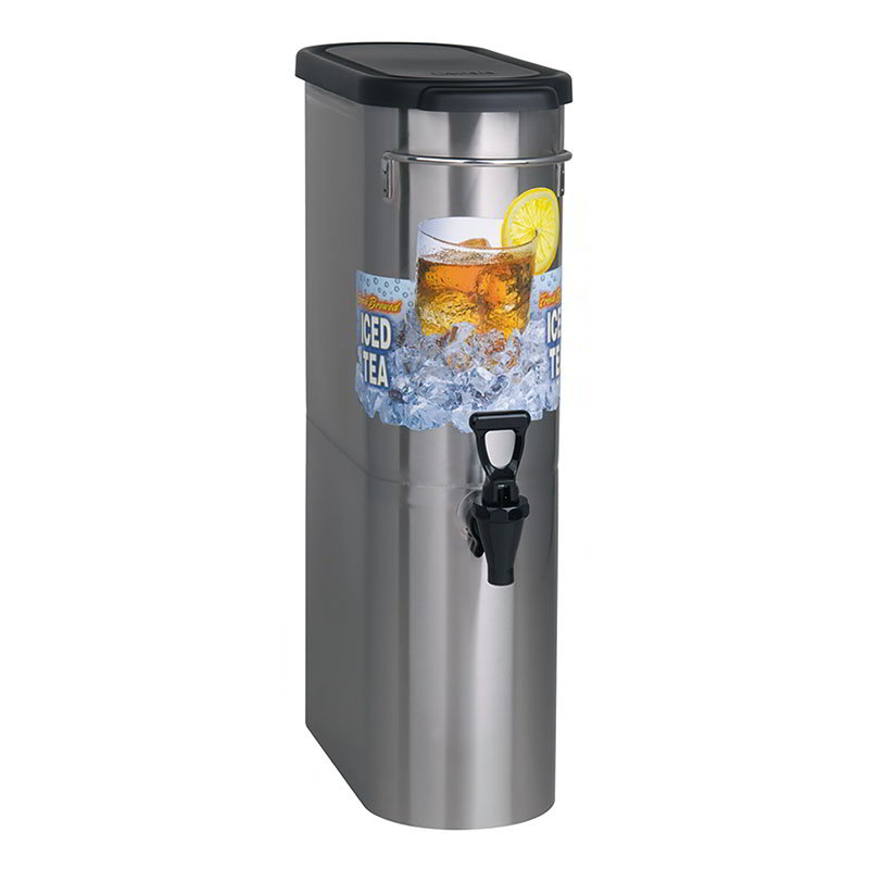 BUNN-O-Matic 39600.0001 3.5-Gal Brew Through Narrow Oval Iced Tea Dispenser