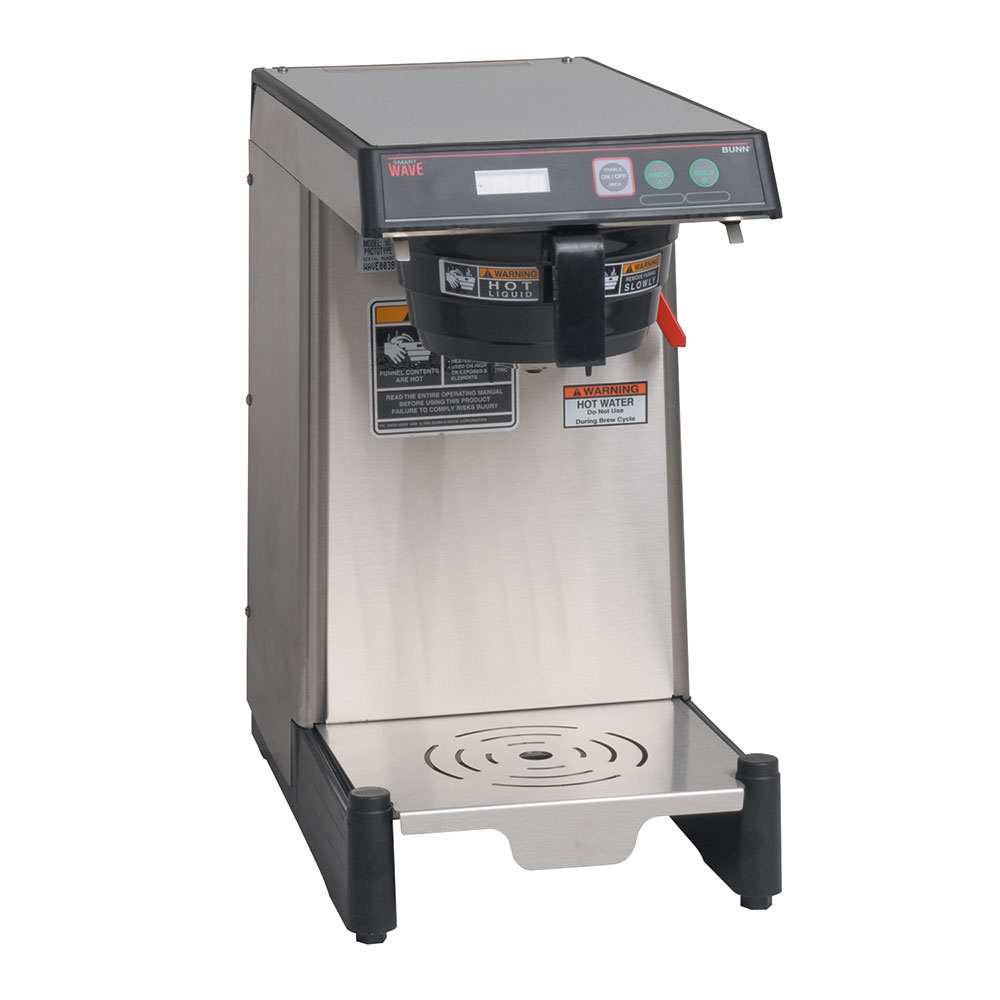BUNN-O-Matic 39900.0008 WAVE-APS SmartWave Low Profile Wide Base Coffee Brewer, 120/240 V