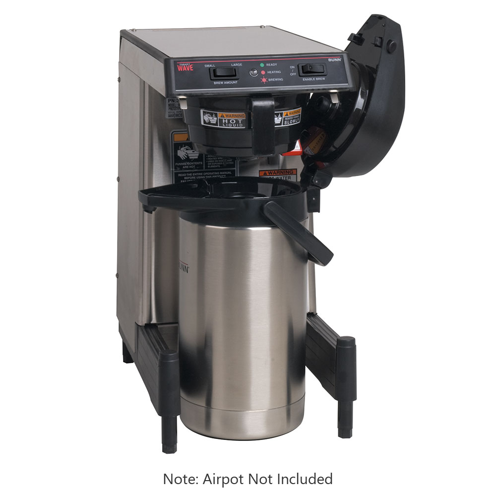 BUNN-O-Matic 39900.0009 WAVE-APS SmartWave Low Profile Wide Base Coffee Brewer, 120/240 V