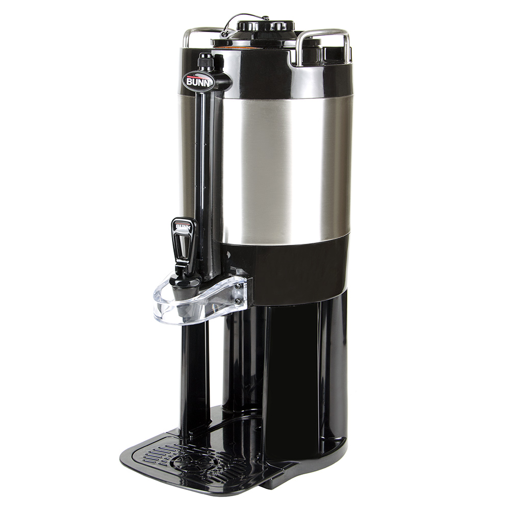 BUNN-O-Matic 440500000 1.5-gal Server - Portable, Mechanical Sight Gauge, Brew Thru Lid, Stainless Steel