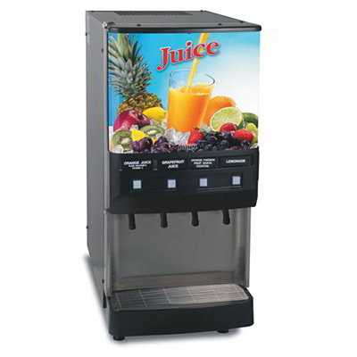 BUNN-O-Matic 37300.0000 4-Flavor Cold Beverage System w/ (3) 12-oz Drink Capacity, Juice Display