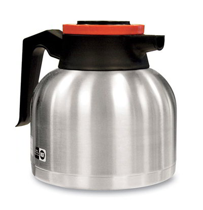 BUNN-O-Matic 40163.0101 64-oz Thermal Carafe w/ Brew Thru & Vacuum Insulation, Orange Lid, All S