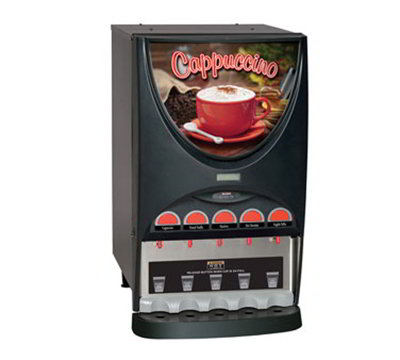 BUNN-O-Matic 37000.0002 Hot Beverage Dispenser w/ (5) 8-lb Hoppers & 4.5-gal Hot Water Tank, Black