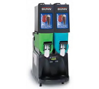 BUNN-O-Matic 34000.0504 Frozen Drink Machine, (2) 2-gal Hoppers & Touchpad Display, Stainless, Black