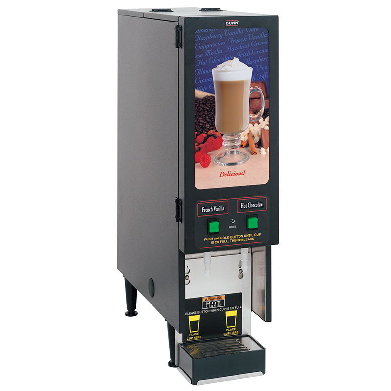BUNN-O-Matic SET00.0200 FMD-2 BLK Hot Powdered Drink Machine, 2 Hoppers, Standard Display