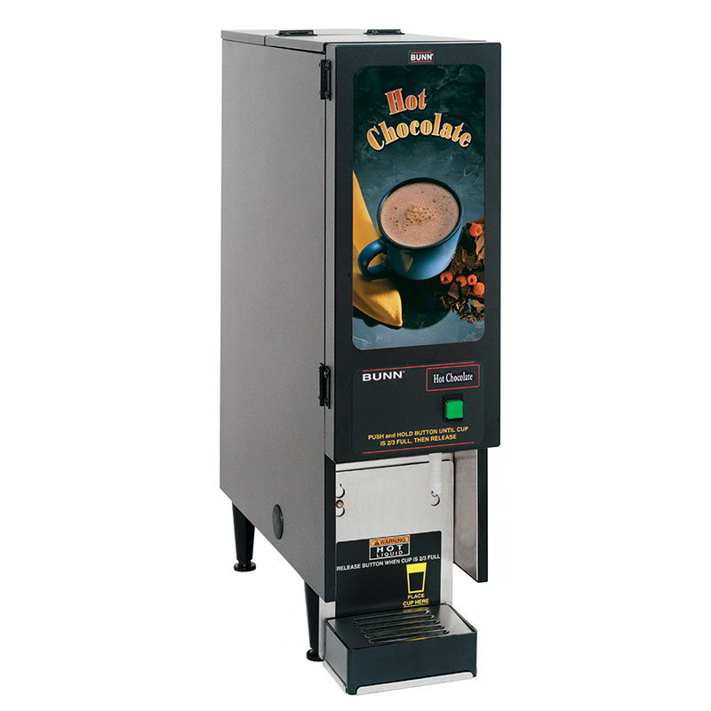 BUNN-O-Matic SET00.0203 FMD-1 BLK Hot Powdered Drink Machine, Hot Chocolate Display