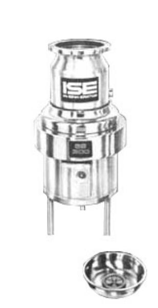 InSinkErator SS-300-18C-MS Complete Disposer Package 3 HP 18 in Diameter Bowl 208V/3PH Restaurant Supply