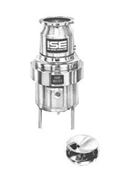 InSinkErator SS-500-15A-MS Complete Disposer Package, 5 HP, 15 in Bowl, 208V/3PH