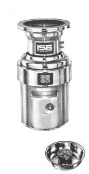 InSinkErator SS-50-15B-MS Complete Disposer Package 1/2 HP Restaurant Supply