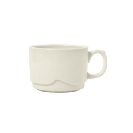 Syracuse China 902903001 3-oz Small Stackable Cup w/ Flint Body, Barista Undecorated