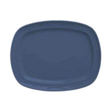 """Syracuse China 903032640 12-1/2"""" Cantina Racetrack Platter - Glazed, Blueberry"""