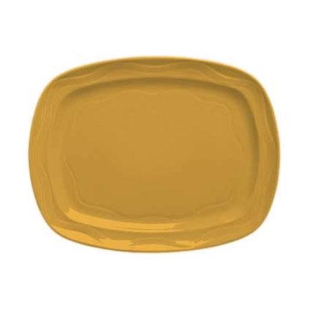 "Syracuse China 903034640 12-1/2"" Cantina Racetrack Platter - Glazed, Cayenne"