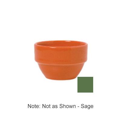 Syracuse China 903046370 8-oz Stackable Bouillon w/ Studio Pattern & Body, Sage