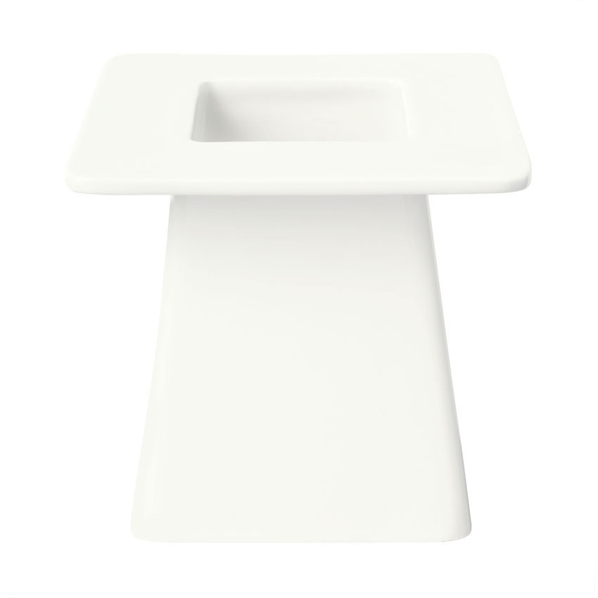 Syracuse China 905356008 6-in Square Pedestal w/ Slenda