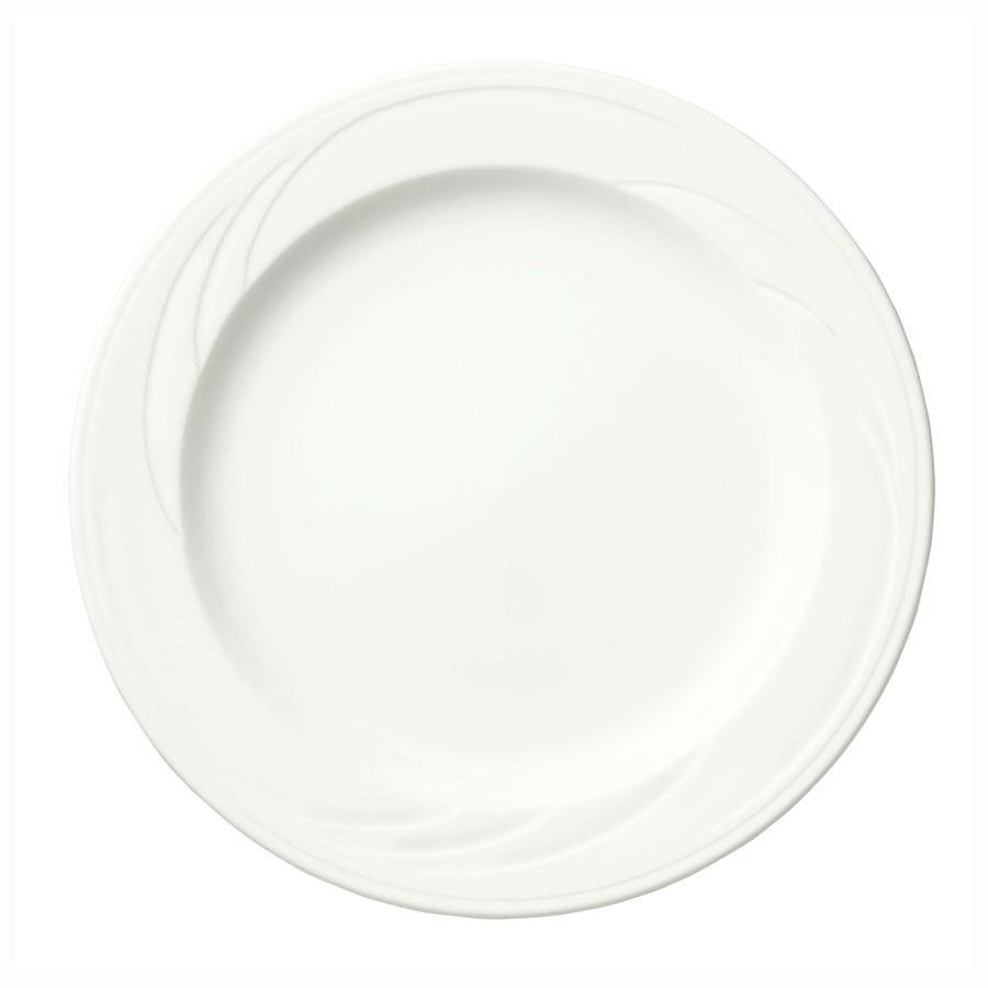 Syracuse China 905437820 9-in Footed Plate w/ Medium Ri