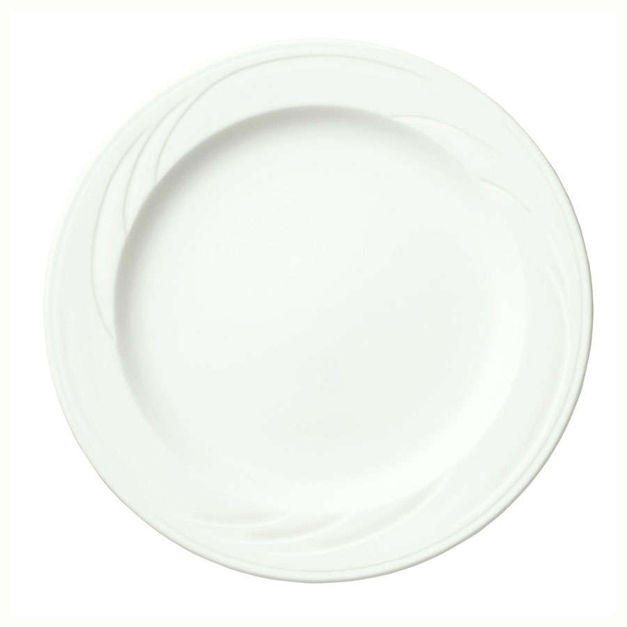 Syracuse China 905437876 9.75-in Plate w/ Medium Rim & Ela