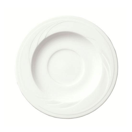 Syracuse China 905437886 5.75-in Tea Saucer w/ Elan Pattern & Medium