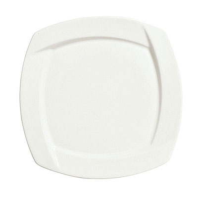 Syracuse China 905482906 6.25-in Square Plate w/ Tangular Pattern &a