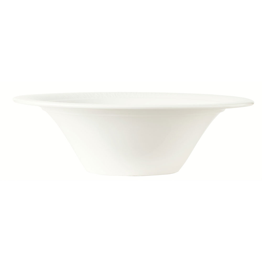 Syracuse China 909089708 39-oz Round Entree Bowl w/ Under Ring & Royal Rideau Body, Glazed