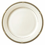 Syracuse China 911191001 10.5-in Dinner Plate, Baroque, International Shape & Bone White China Body