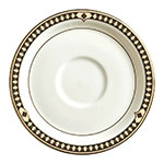 Syracuse China 911191031 6.12-in Saucer w/ Baroque Pattern & International Shape, Bone China Body