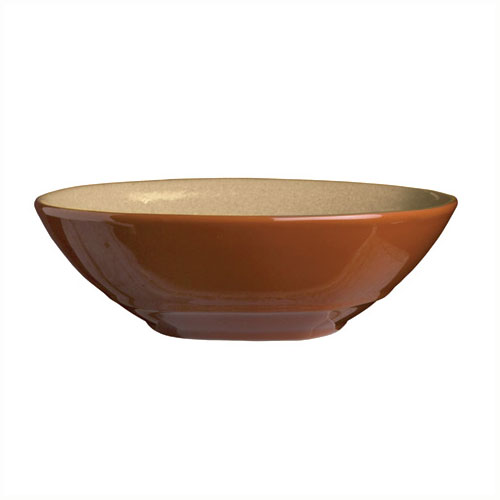 Syracuse China 922222353 21-oz Round Bowl, Terracotta Clay, 2-Tone, Pine, 7.12x2-in