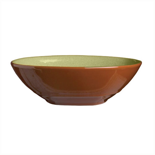 Syracuse China 922224353 21-oz Round Bowl, Terracotta Clay, 2-Tone, 7.12x2-in,
