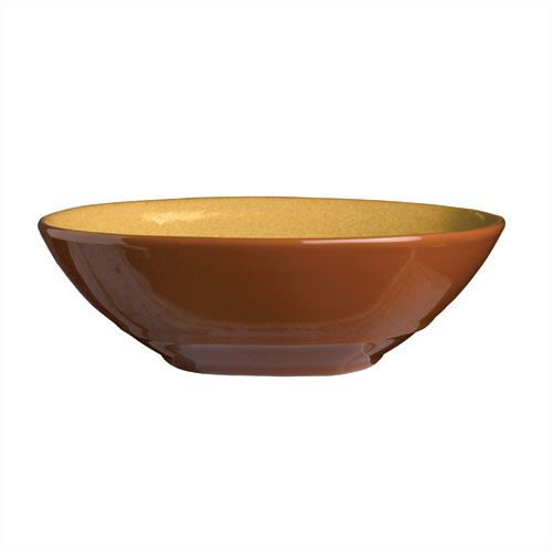 Syracuse China 922226353 21-oz Round Bowl, Terracotta Clay, 7.12x2-in, Mus