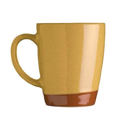 Syracuse China 922226354 14-oz Mug, Terracotta Clay, 2-Tone, Mustard Seed Yellow