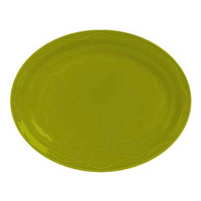 "Syracuse China 923036615 9-5/8"" Cantina Platter - Oval, Glazed, Limon"
