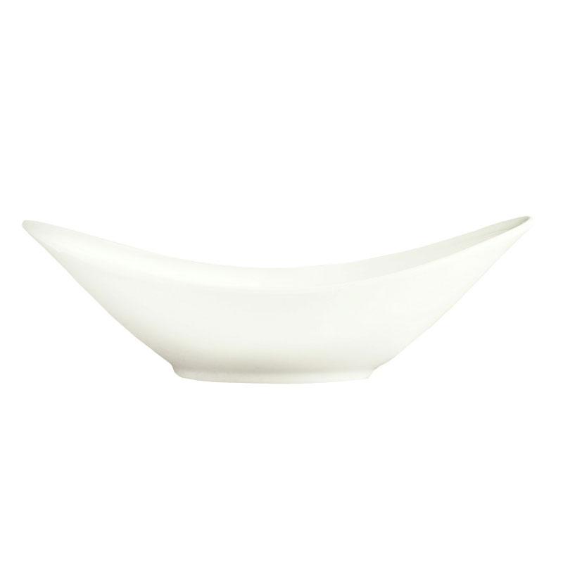 Syracuse China 987659323 10-oz Oval Bowl w/ Silk Pattern & Royal Ridea