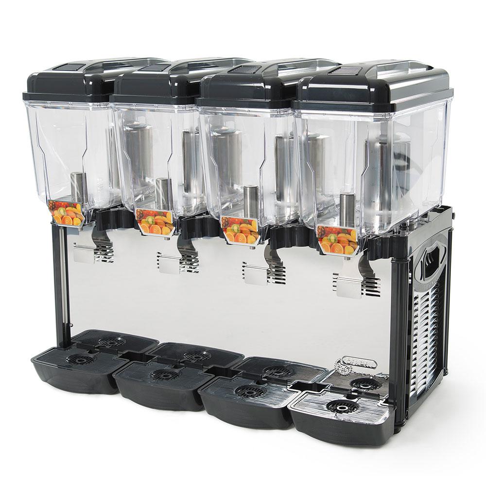 Eurodib CD4J Juice Dispenser w/ (4) 3.2-Gallon Polycarbonate Tank