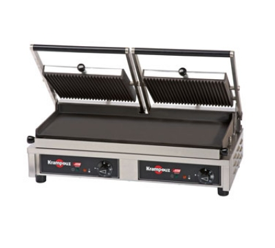 Eurodib GECID5 Double Panini Grill w/ Grooved Upper & Lower 20 x 9-in Plate, 240 V