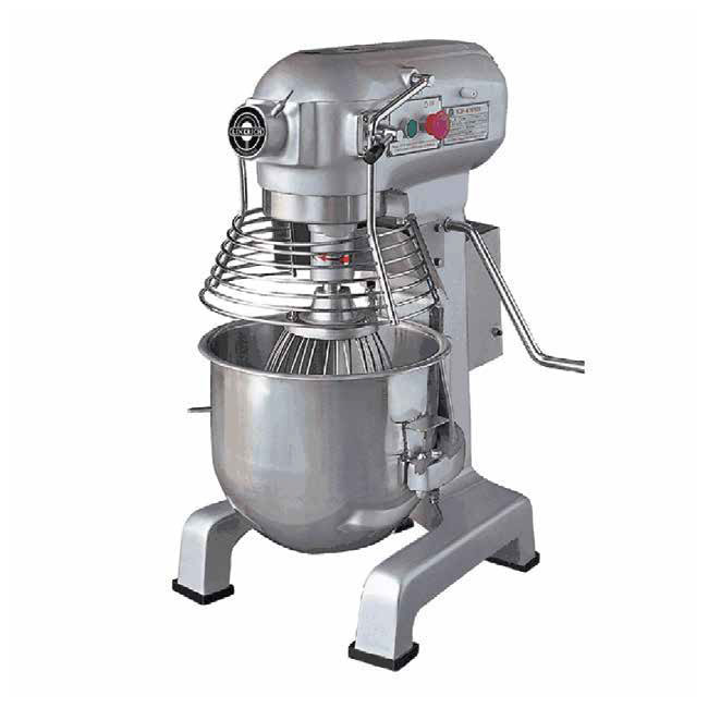 Eurodib M20A UL 3-Speed Mixer w/ Stainless Bowl, Whip