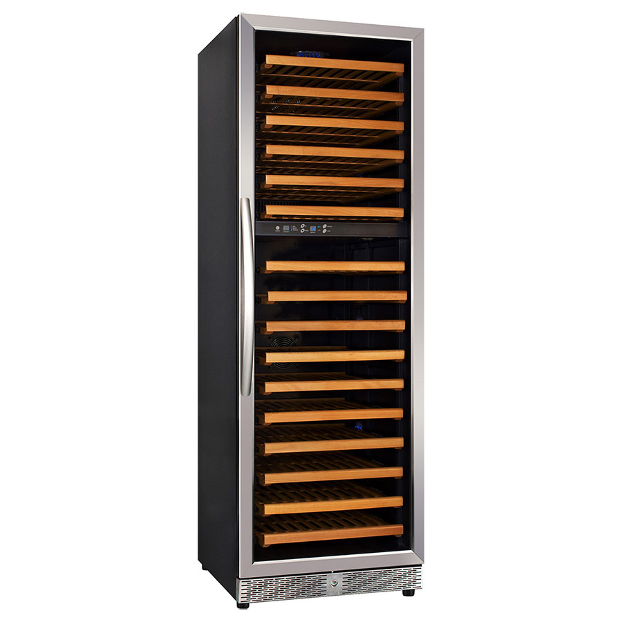 Eurodib MH168DZ Dual-Temp Serving Ageing Cabinet w/ 15-Shelves & 165-Bottle Capacity