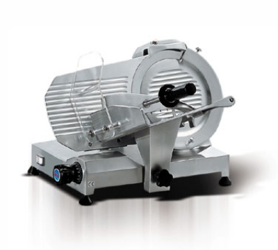 Eurodib MIRRA 250 10-in Slicer w/ Removable Built-In Sharpener, Belt Driven, Manual