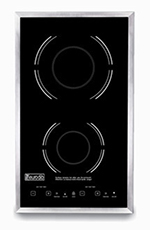 Eurodib SC05 208/240 Drop-In Induction Range - Digital, Double Hob, Ceramic Cooktop 208-240v