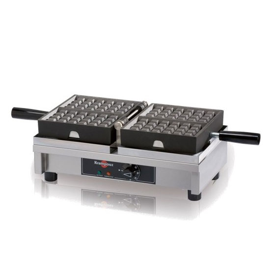 Eurodib WECDAAAS Belgian Waffle Maker w/ 2-Waffle Capacity & 180-degree Opening, Thermostatic