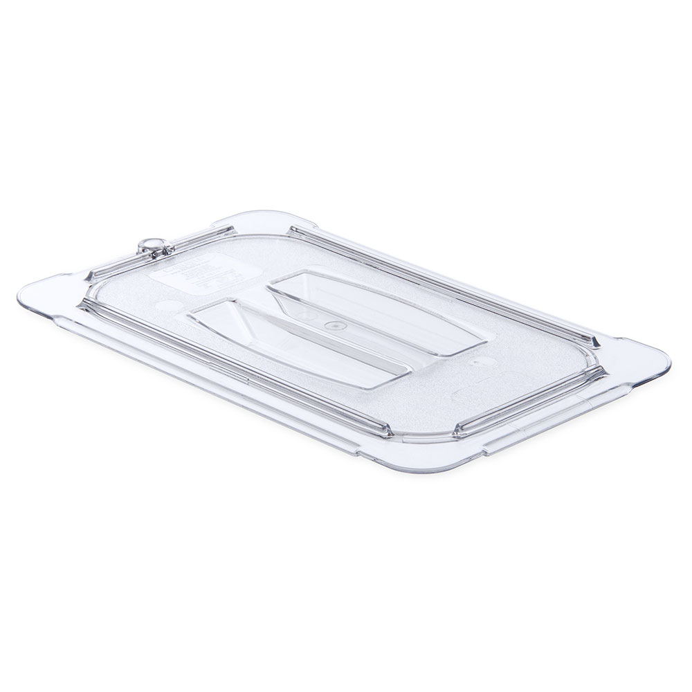 Carlisle Food Service 10290U07 Universal Handled Lid for 1/4 Size Food Pans NSF Clear Restaurant Supply