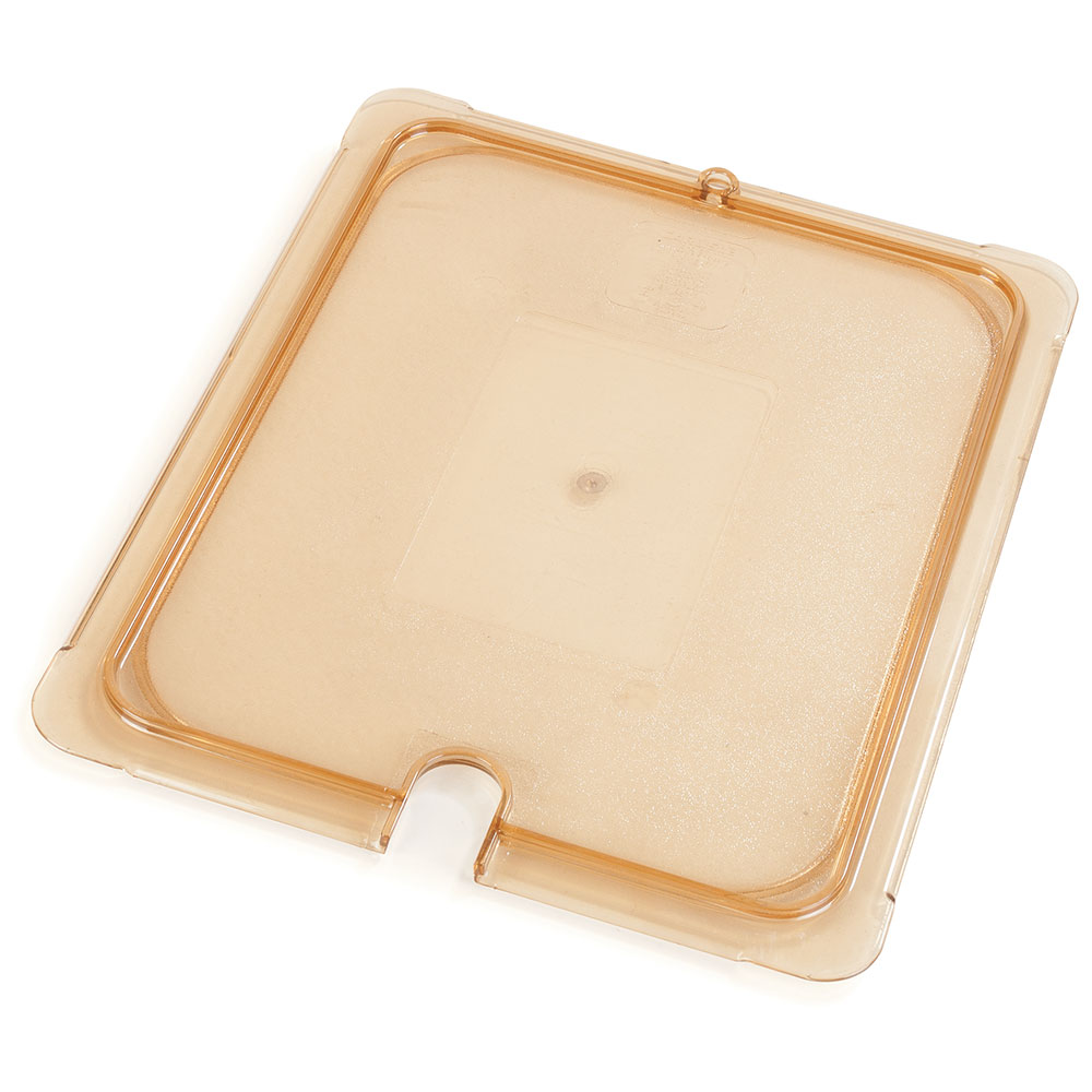 Carlisle 10437U13 Universal Flat Notched Lid for Half Size Food Pans Restaurant Supply