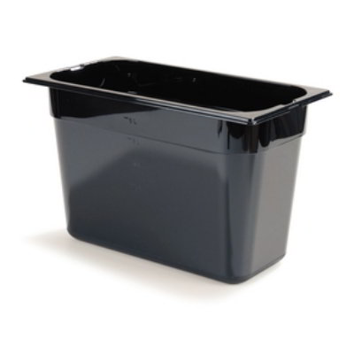 "Carlisle 1046903 High Heat 1/3 Size Food Pan - 8""D, Black"