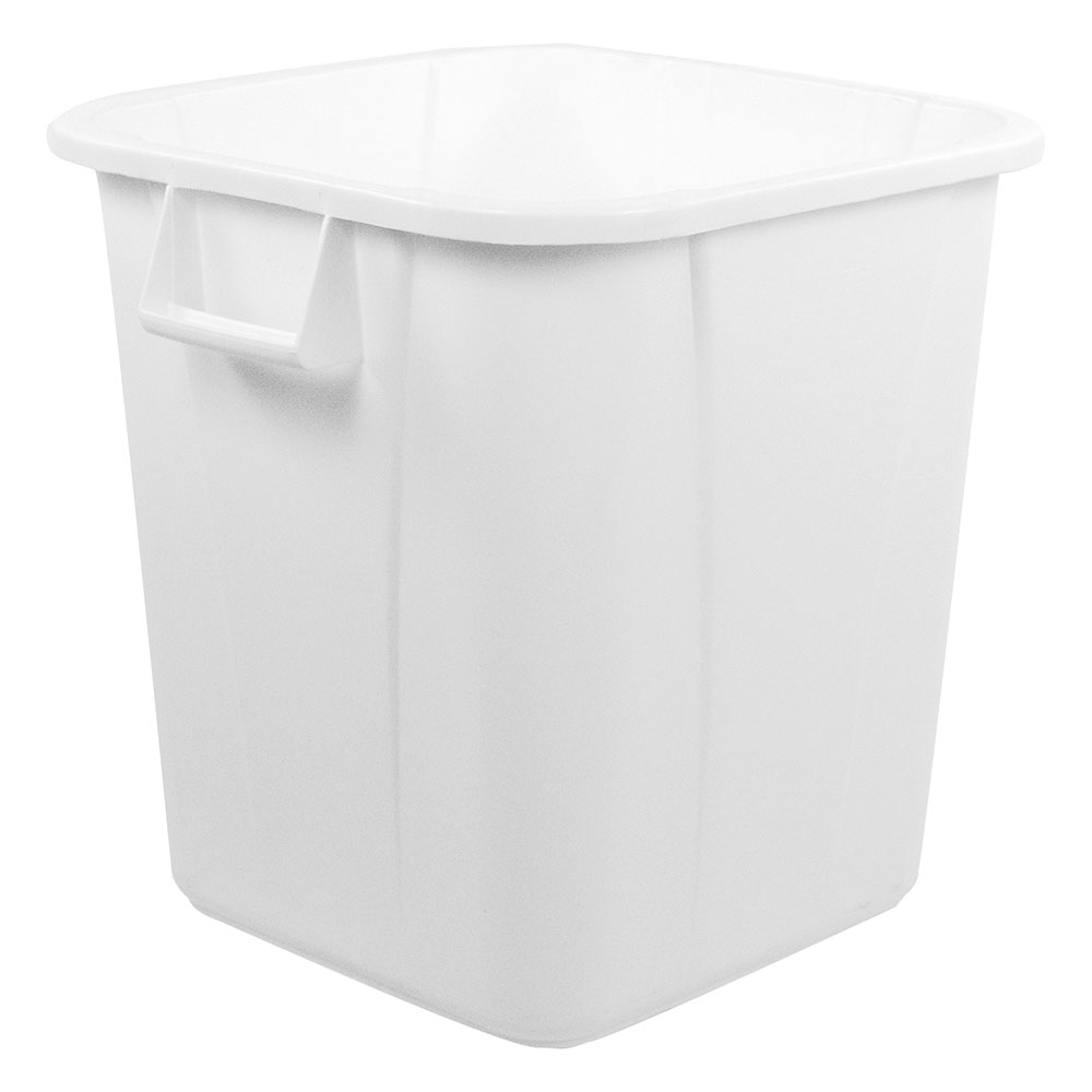 Carlisle 341540-23 40-gal Square Waste Container - Handles, Polyethylene, Gray