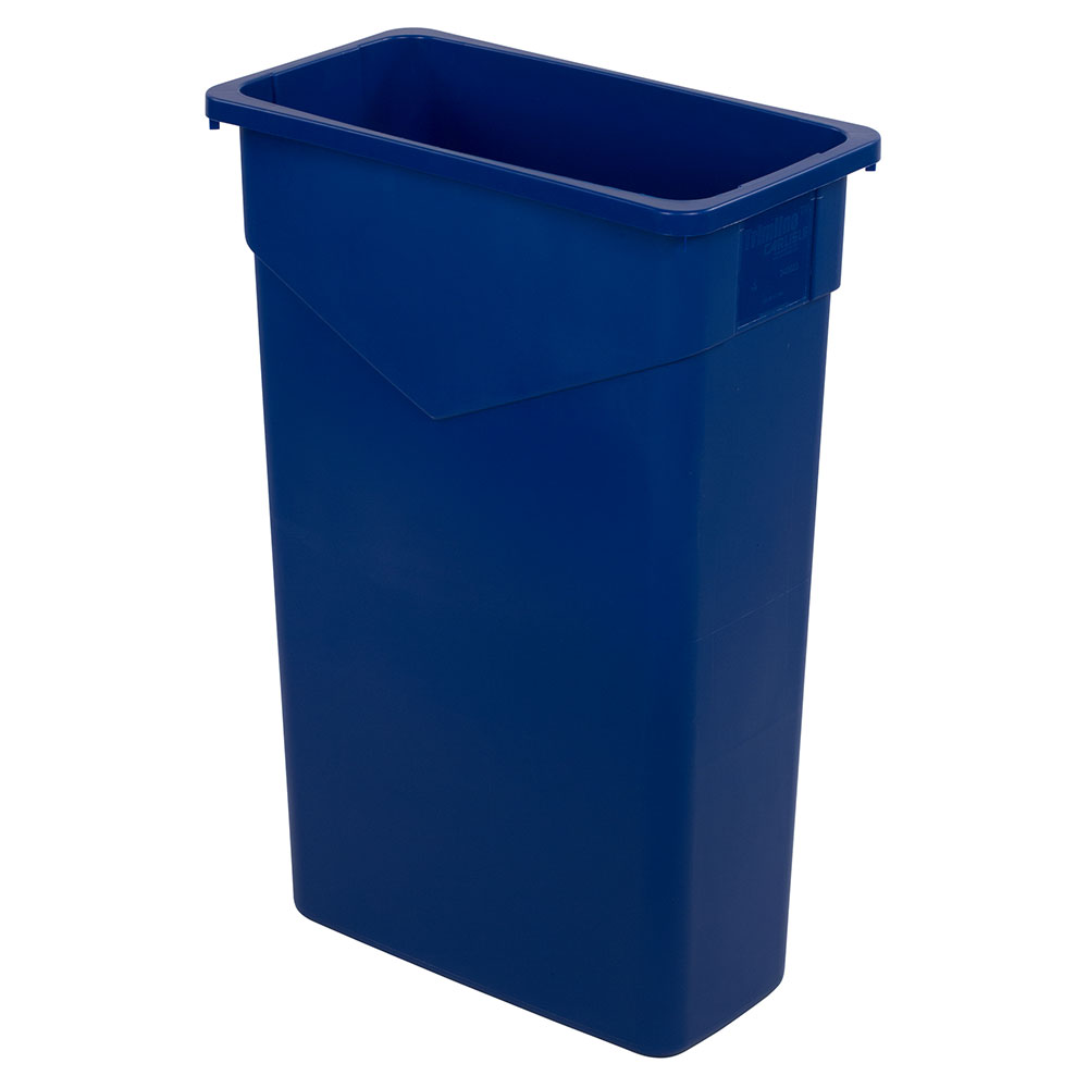 Carlisle 34202314 23-gal Rectangular Waste Container - Polyethylene, Blue