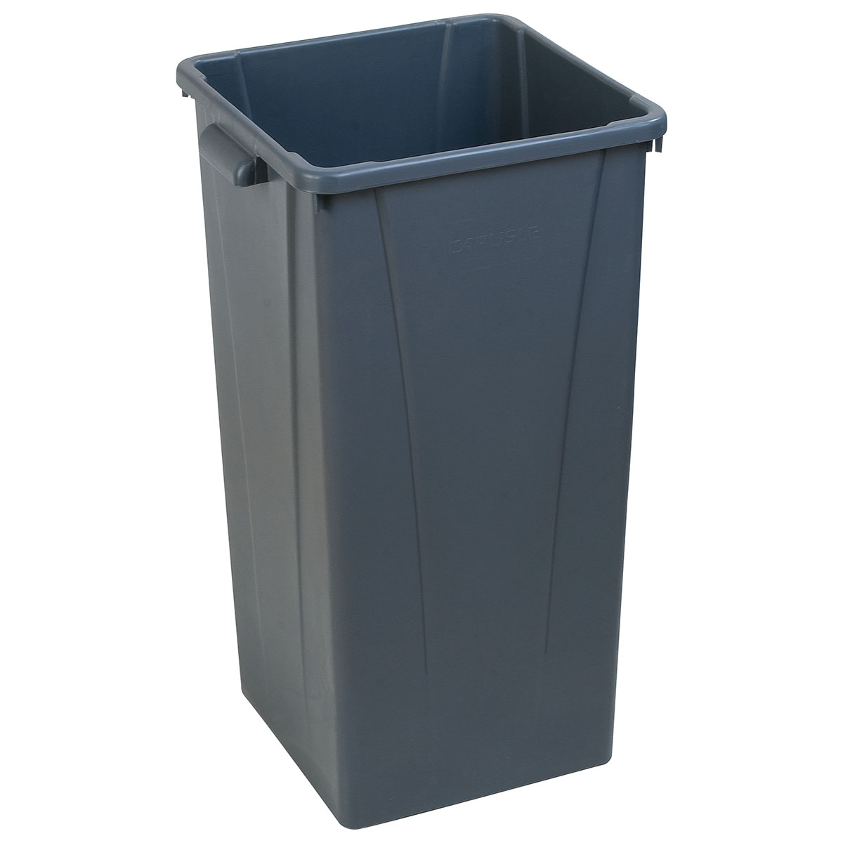Carlisle 343523-23 23-gal Square Waste Container - Polyethylene, Gray