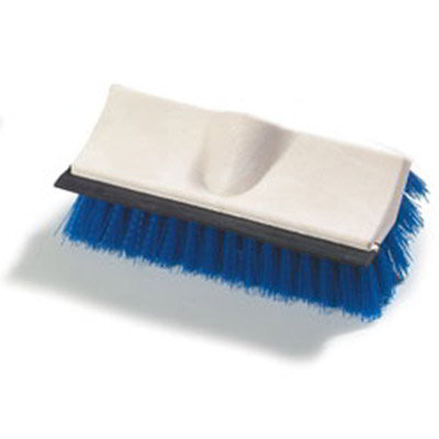 "Carlisle 3621942214 10"" Flo-Thru Brush - Poly, Blu"