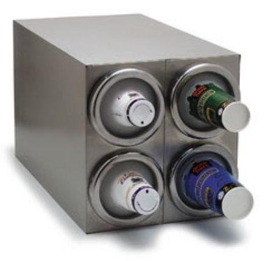 Carlisle 38884GS Square Cabinet Cup Dispenser w/ 4-Cup Dispenser Restaurant Supply