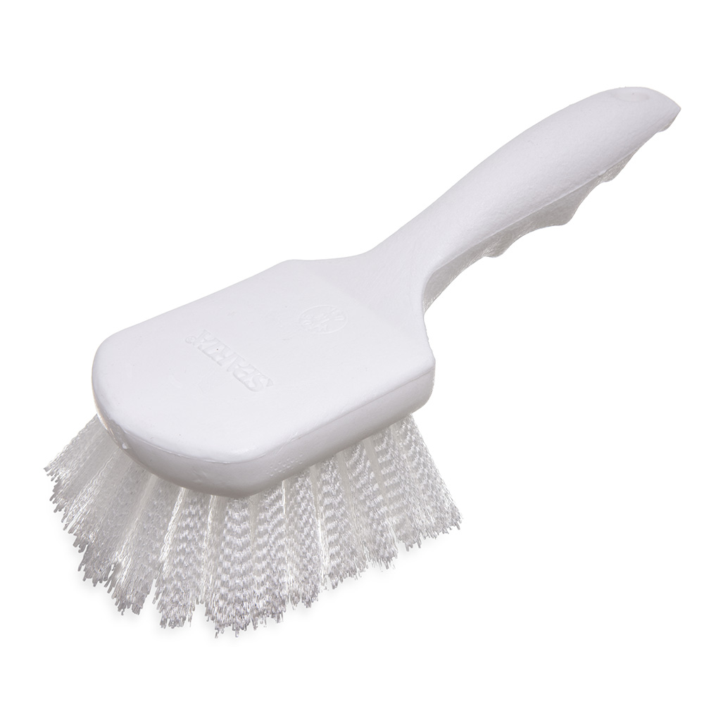 Carlisle 4054200 Sparta Hercules Kitchen Brush, 8 in Handle, Stiff Nylon Bristles